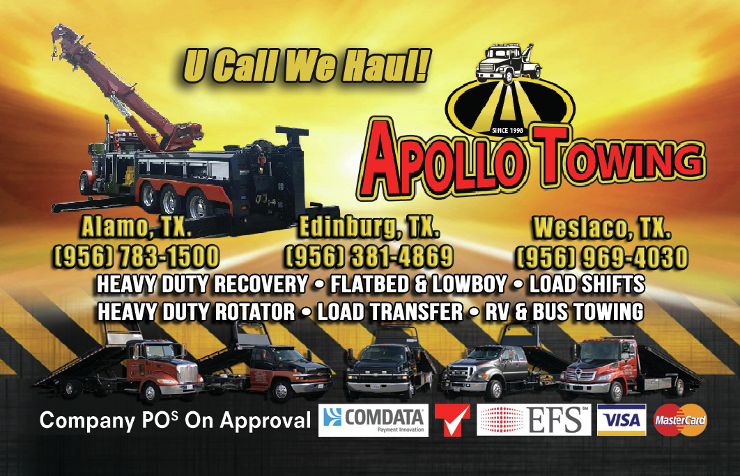APOLLO TOWING | You Call We Haul | Serving the Rio Grande